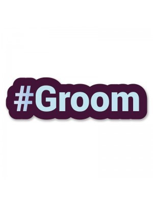 #Groom Trending Hashtag Oversized Photo Booth PVC Word Board Sign