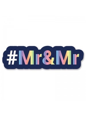 #Mr&Mr Trending Hashtag Oversized Photo Booth PVC Word Board Sign
