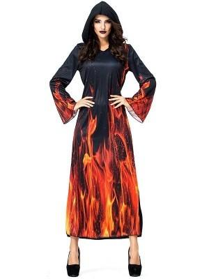 Hells Fire Dress Women's Halloween Fancy Dress Costume