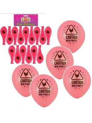 Hot Pink Hen Balloons (10 Pack)