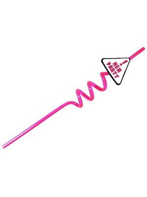 Hen Party Curved Straws With Rubber Triangle Sign