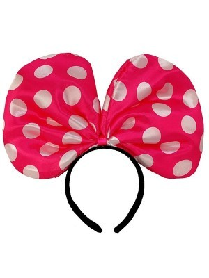 Minnie Mouse Style Dark Pink Dot Bow