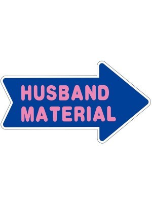 'Husband Material' Word Board Photo Booth Prop