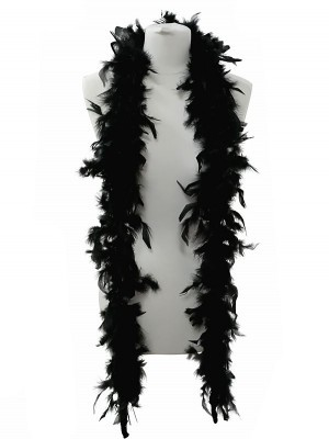 Beautiful Black Feather Boa – 50g -180cm