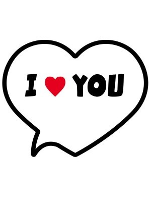 'I ❤ You' Speech Bubble Photo Booth Prop