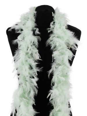 Beautiful Icy Mint Green Feather Boa – 50g -180cm