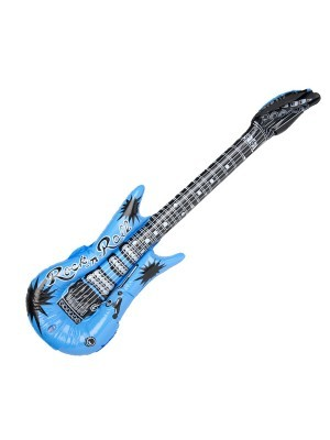 Inflatable Guitar Blue