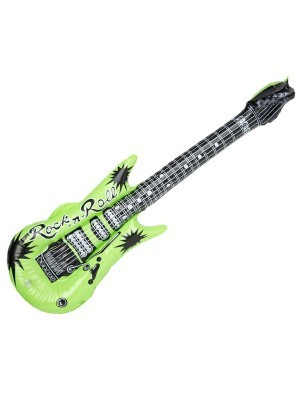 Inflatable Guitar Green