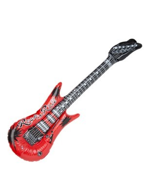 Inflatable Guitar Red