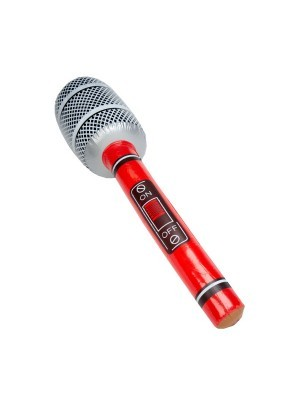 Inflatable Microphone Red