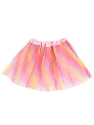 Kids Pink & Yellow Rainbow Tutu