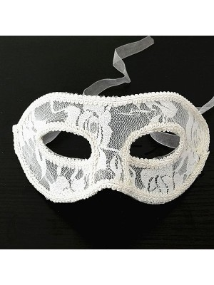 Lace Masquerade Mask White