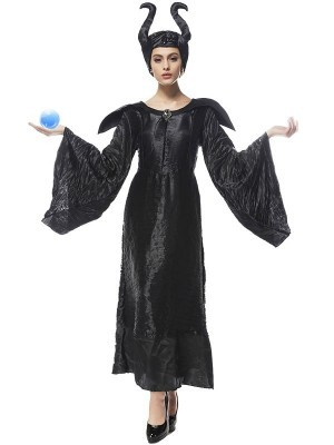 Ladies Evil Fairy Tale Movie Witch Halloween Fancy Dress Costume