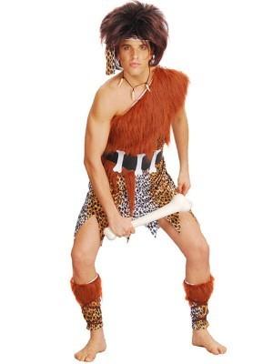 Leopard Print Fur Caveman Fancy Dress Costume