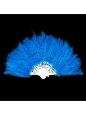 Stunning Light Blue Feather Fan