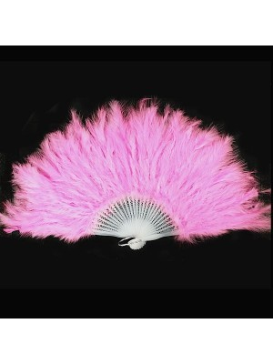 Stunning Light Pink Feather Fan