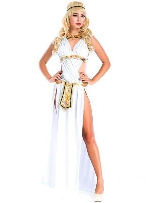 Long Egyptian Goddess Fancy Dress Costume