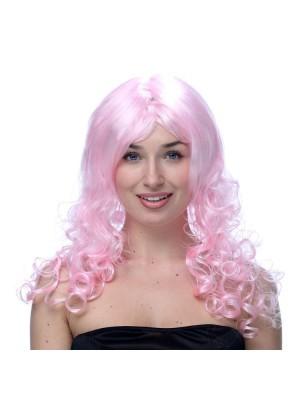 Long Wavy Pink Wig