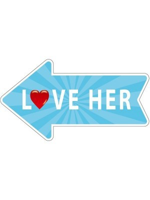 'Love Her' Word Board Photo Booth Prop