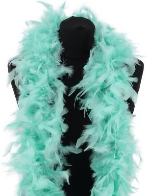 Luxury Mint Green Feather Boa – 80g -180cm