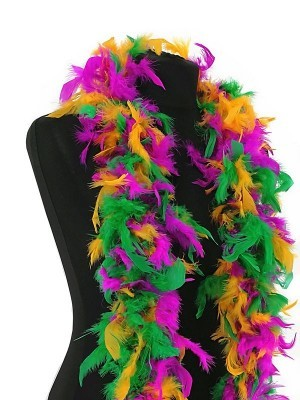 Luxury Tropical Mixed Feather Boa – 80g -180cm