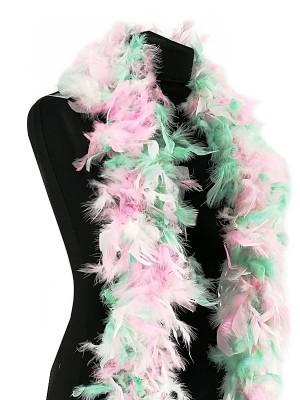 Luxury Mixed Pastel Colours Feather Boa – 80g -180cm
