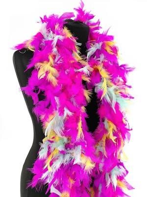 Luxury Mixed Neon Feather Boa – 80g -180cm