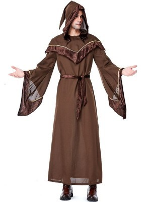 Male Medieval Monk Fancy Dress Costume