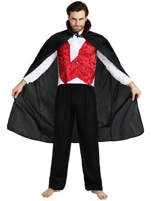 Male Smart Count Vampire Halloween Fancy Dress Costume – One Size