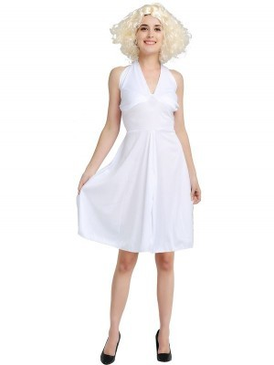 Marilyn Style Movie Star Fancy Dress Costume - One Size