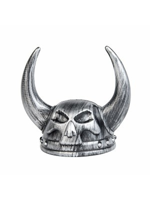 Metallic Affect Thor God of Thunder Viking Helmet - Silver
