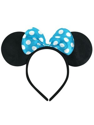 Mouse Style Ears and Blue Spotty Bow
