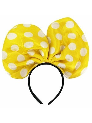 Large Mouse Style Yellow Dot Bow