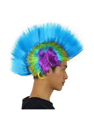 Mohican Wig Blue