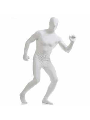 Adult Sized Second Skin Morf Suit In White