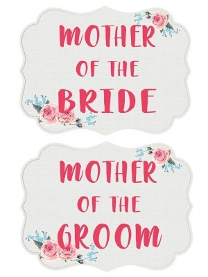 Mother Of The Groom & Mother Of The Bride, Double-Sided PVC Wedding Photo Booth Word Board Signs
