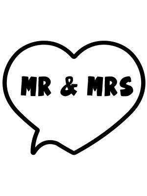 'Mr & Mrs' Heart Bubble Photo Booth Prop
