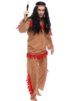 Native American Indian Male Fancy Dress Costume