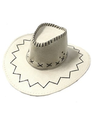 Light Tan Suede Effect Cowboy Hat