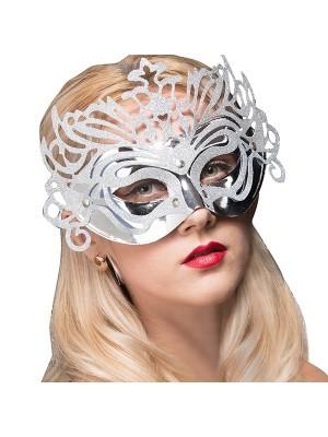 Ornate Masquerade Mask Silver