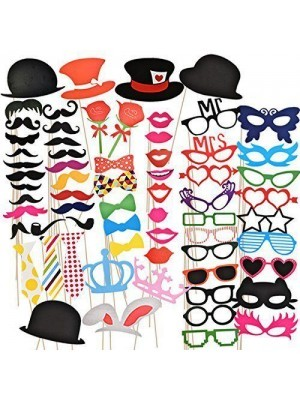Pack Of 66 Photo Booth Props On Sticks