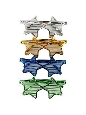 Pack Of 4 Random Colour Star Shutter Sunglasses
