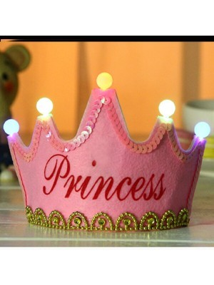 Pink 'Princess' Birthday Crown LED Light Up Tiara