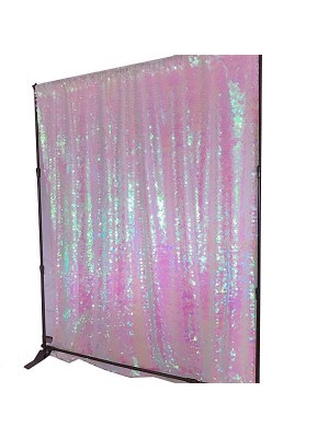 Shimmering Pink Sequin Backdrop