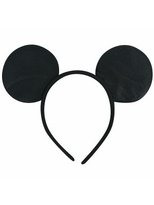 Plain Black Mouse Ears