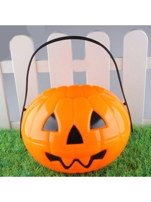 Pumpkin Halloween Trick or Treat Bucket