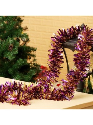 Purple and Gold Mixed Tinsel