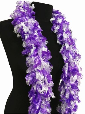 Luxurious Purple & White Featherless Boa