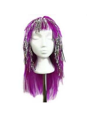 Very Glitzy Shiny Wig Purple