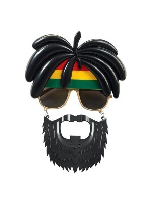 Rastarfarian 'Rasta' Sunglasses With Beard